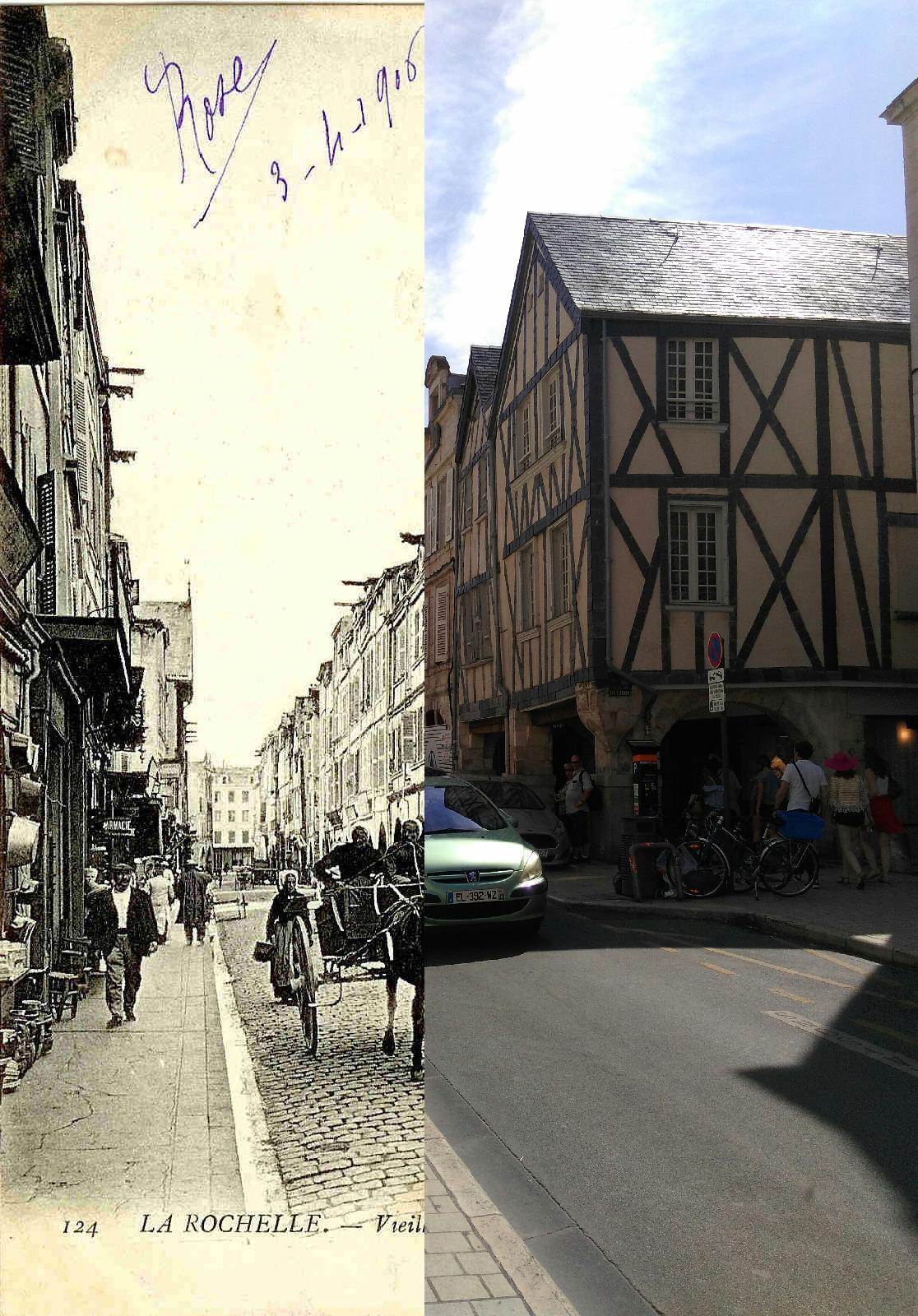 La Rochelle - La Rochelle - Vieilles Maisons de la Rue des Merciers