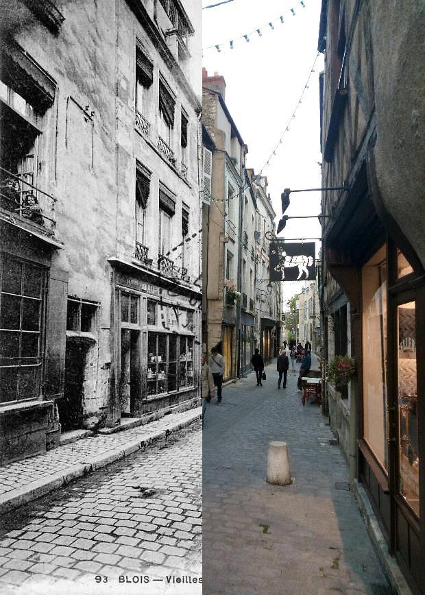 Blois - Vieilles maisons rue Lubin