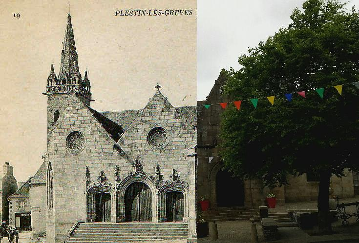 Plestin-les-Grèves - Façade de l'église (XVI° siècle)